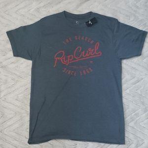 Mens NWT gray red Rip Curl tee shirt tshirt new S